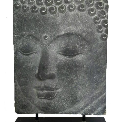Buddha Face Stone Statue at Gaia-Center in Cyprus.