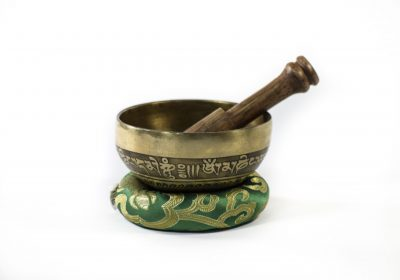 Tibetan singing bowls at Gaia-Center in Cyprus.