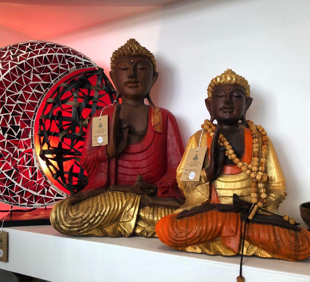 Teak wood Buddhas