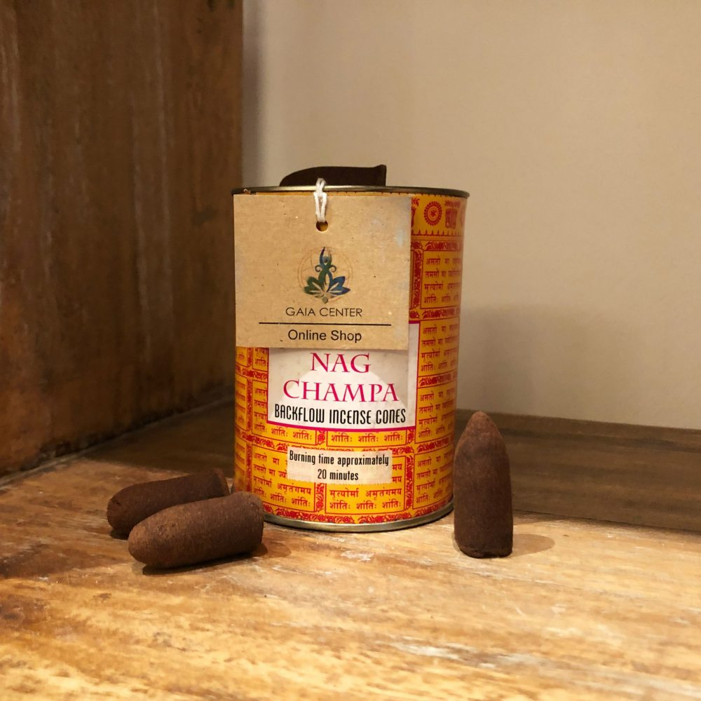 Nag Champa Backflow Incense Cones Pack to buy at Gaia-Center Shop Cyprus