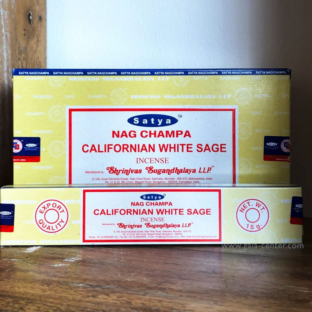 California White Sage Incense Sticks by Satya