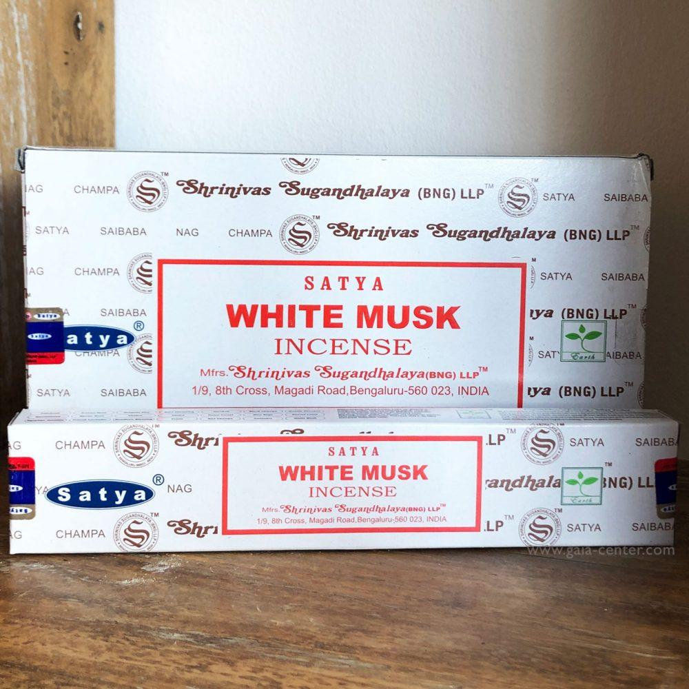 White Musk Incense Sticks by Satya