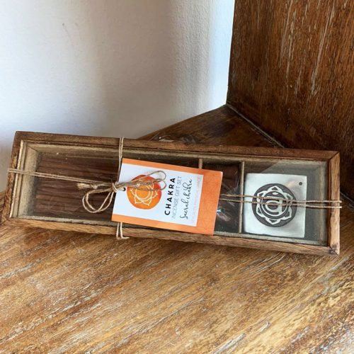 Incense Set with Incense holder for Sacral Chakra at Gaia Center in Cyprus.