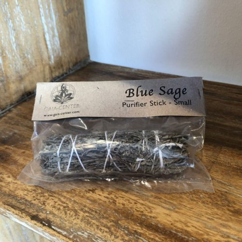 Blue sage smudge stick at Gaia-Center in Cyprus.