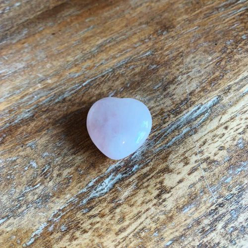 Gemstones and Crystals section. Rose Quartz stone heart at Gaia Center in Cyprus.