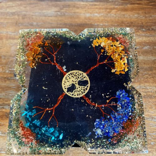 Orgonite Power Desk Copper tree and Gemstones at Gaia-Center in Cyprus.