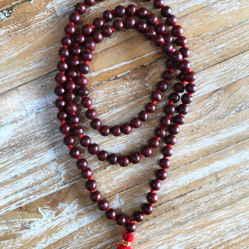 108 beads Rosewood Japa mala at Gaia-Center Shop in Cyprus