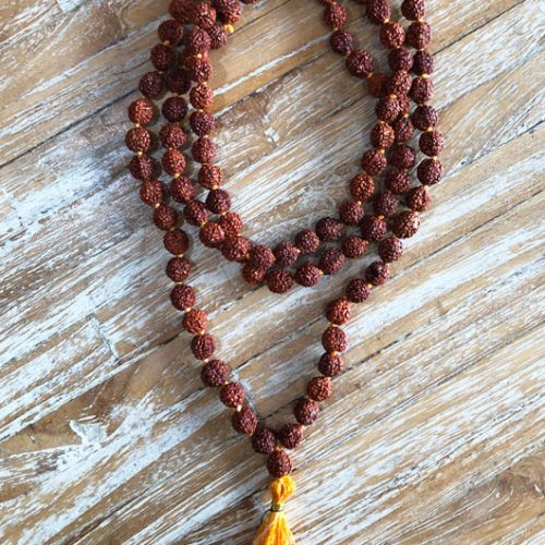 108 beads Rudraksha Japa mala at Gaia-Center Shop in Cyprus