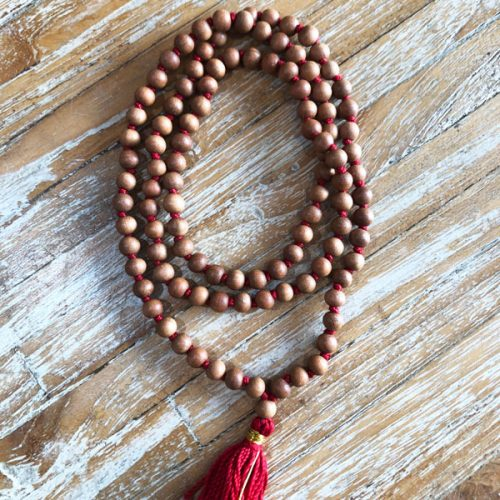 108 beads Sandalwood Japa mala at Gaia-Center Shop in Cyprus