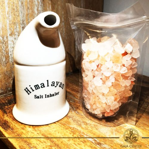 Himalayan Salt Inhaler with Salt pack. Selection of Himalayan Salt Lamps at Gaia Center in Cyprus. Shop online at: https://www.gaia-center.com Cyprus and International Delivery.