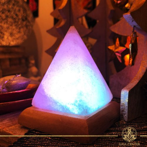 Himalayan Salt Lamp Pyramid. Selection of Himalayan Salt Lamps at Gaia Center in Cyprus. Shop online at: https://www.gaia-center.com Cyprus and International Delivery.