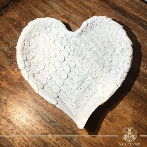 Angel wings heart shape jewellery tray at Gaia-Center in Cyprus. Spiritual and decor gifts order online at: https://www.gaia-center.com