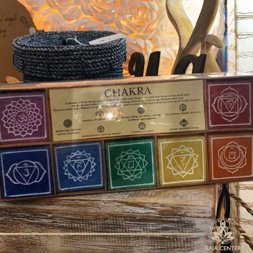Chakra Candles set of 7 pcs. Decor and Spiritual items selection at Gaia Center in Cyprus. Order online: https://www.gaia-center.com Cyprus and International Shipping.
