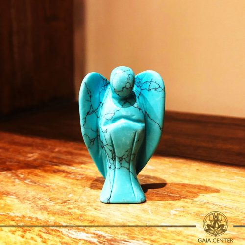 Turquoise Angel at Gaia-Center Cyprus. Gemstone and Crystal selection. Shop online at: https://www.gaia-center.com. Cyprus and Worldwide shipping.