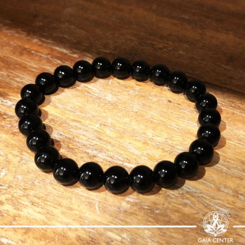 Bracelet Black Agate at Gaia-Center Cyprus. Gemstone and Crystal selection. Shop online at: https://www.gaia-center.com. Cyprus and Worldwide shipping.