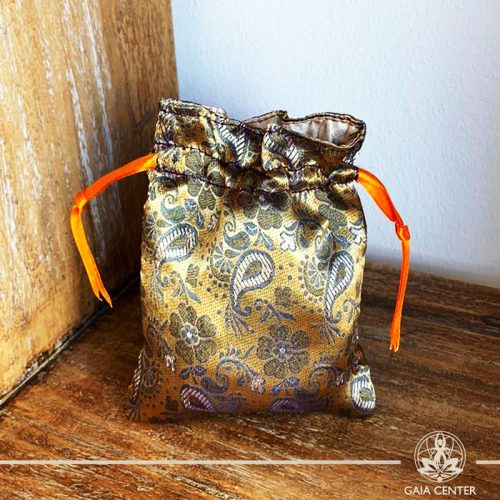 Textile Gift pouch at Gaia-Center Cyprus. Textile and summer straw bags selection. Shop online at: https://www.gaia-center.com. Cyprus and Worldwide shipping.