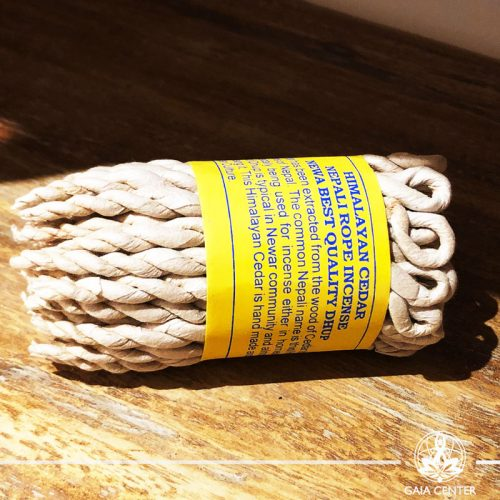 Himalayan Cedar Nepali rope incense in Cyprus at Gaia-Center. Selection of natural incense. We deliver worldwide. Wholesale and retail.