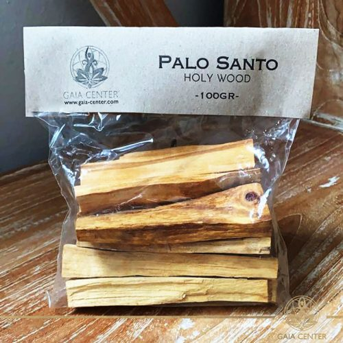 Palo Santo holy wood sticks for smudging. Palo Santo Pack of 100gr available at Gaia Center in Cyprus. We deliver worldwide. Palo Santo wood for wholesale and retail.