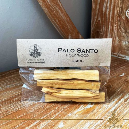 Palo Santo holy wood sticks for smudging. Palo Santo Pack of 25g available at Gaia Center | Cyprus. Selection of original Palo Santo Wood sticks from Peru. Cyprus delivery to: Limassol, Paphos, Nicosia, Larnaca, Paralimni, Strovolos. Including provinces and small suburbs. Europe and International Worldwide shipping. Wholesale and Retail. Shop online for Palo Santo: https://gaia-center.com