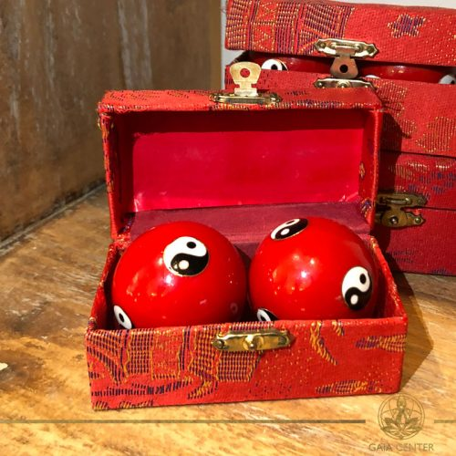 Pair of Stress Balls in red color at Gaia Center in Cyprus. Worldwide delivery, shop online: https://www.gaia-center.com