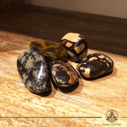 Nguni Jasper Stone tumbled gemstones. Gemstones and Crystals in Cyprus at Gaia-Center