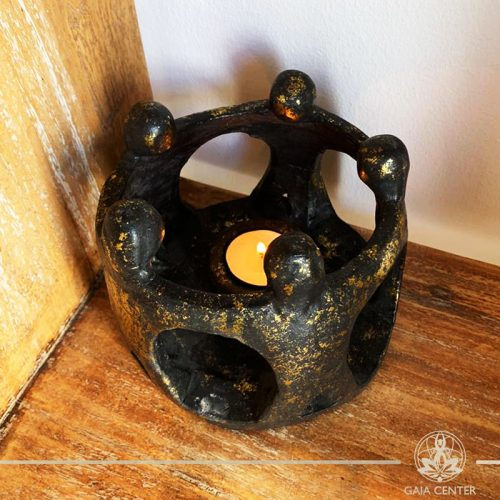 Circle of friends tea light made from ceramic at Gaia Center in Cyprus. Shop online at https://gaia-center.com. Cyprus and Worldwide shipping.