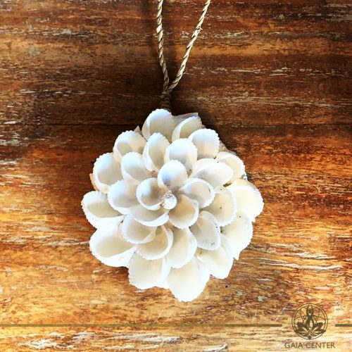 Natural sea shell decor lotus flower design at Gaia Center in Cyprus. Shop online at https://gaia-center.com. Cyprus and Worldwide shipping.
