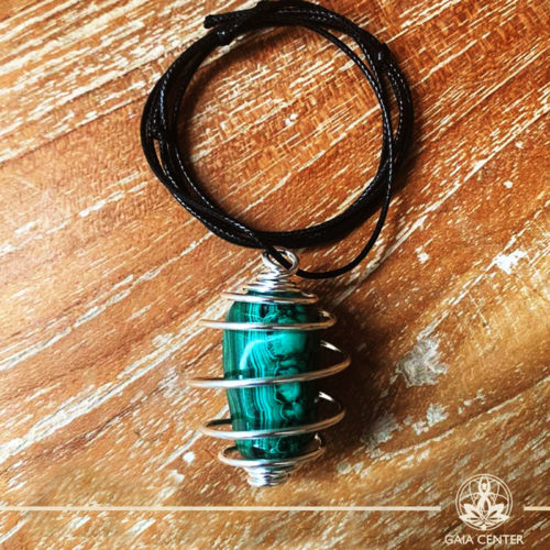 Crystal and Gemstone Pendants - Malachite at Gaia Center | Cyprus.