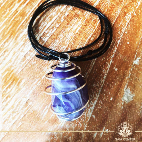Crystal and Gemstone Pendants - Amethyst at Gaia Center | Cyprus.