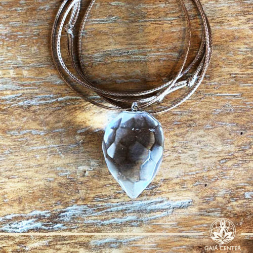 Crystal Pendant with an adjustable string - Clear Crystal Quartz - Premium Quality from Brazil at Gaia Center | Cyprus.