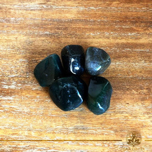Moss Agate tumbled stones | India. Crystals and Gemstones selection at Gaia Center | Cyprus.