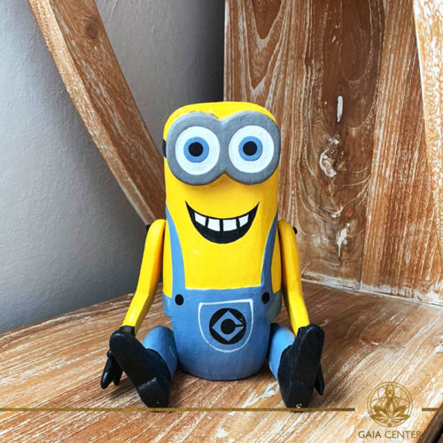 Minion Wooden carved at Gaia Center Cyprus.