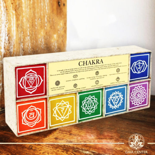 Set of 7 Candles Chakra colors. Gaia Center   Cyprus.