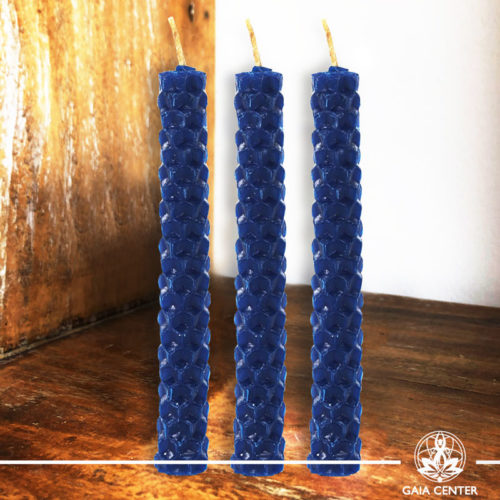 Magic Spell Candles Blue Natural Beeswax at Gaia Center|Cyprus.