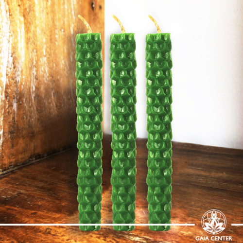 Magic Spell Candles Green Natural Beeswax at Gaia Center|Cyprus.