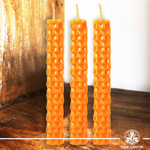 Magic Spell Candles Orange Natural Beeswax at Gaia Center|Cyprus.