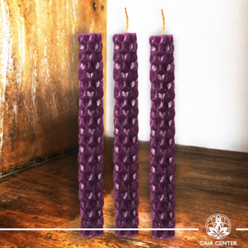 Magic Spell Candles Purple Natural Beeswax at Gaia Center|Cyprus.