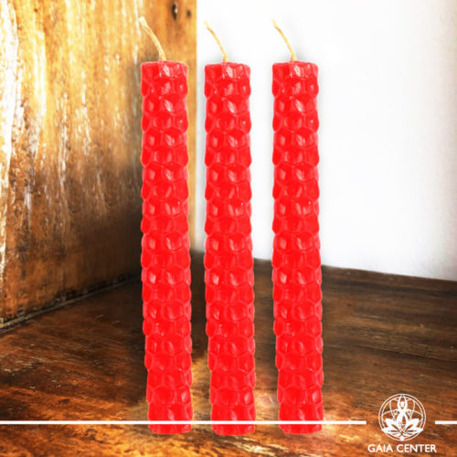 Magic Spell Candles Red Natural Beeswax at Gaia Center|Cyprus.