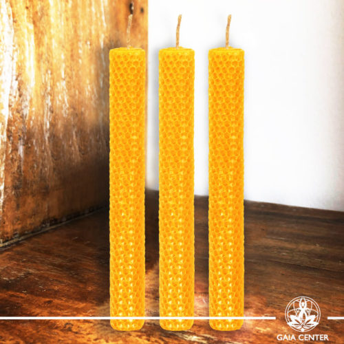 Magic Spell Candles Yellow Natural Beeswax at Gaia Center|Cyprus.