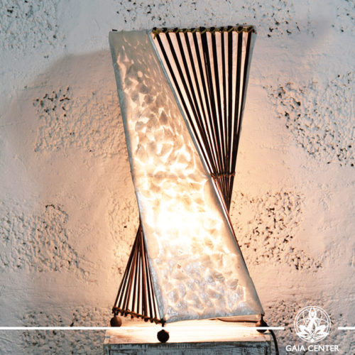 Lamp coral and bamboo decor |large size| from Bali at Gaia Center | Cyprus.
