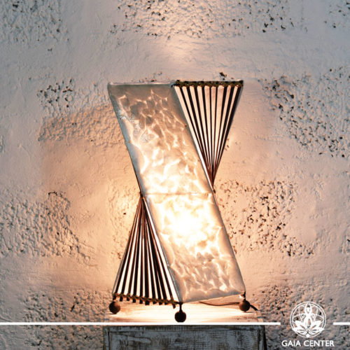 Lamp coral and bamboo decor |medium size| from Bali at Gaia Center | Cyprus.