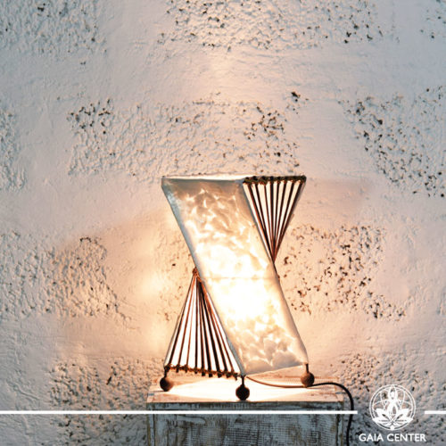 Lamp coral and bamboo decor |small size| from Bali at Gaia Center | Cyprus.