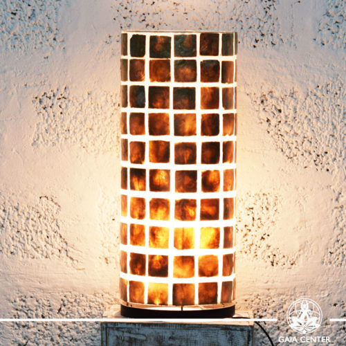 Lamp coral brown  large size  from Bali at Gaia Center   Cyprus.