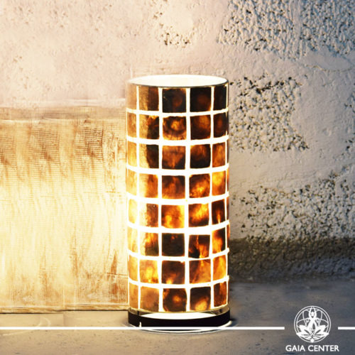 Lamp coral brown  medium size  from Bali at Gaia Center   Cyprus.