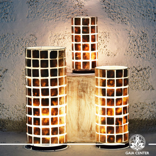 Lamps coral brown |set of three sizes| from Bali at Gaia Center | Cyprus.