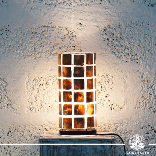 Lamp coral brown |small size| from Bali at Gaia Center | Cyprus.