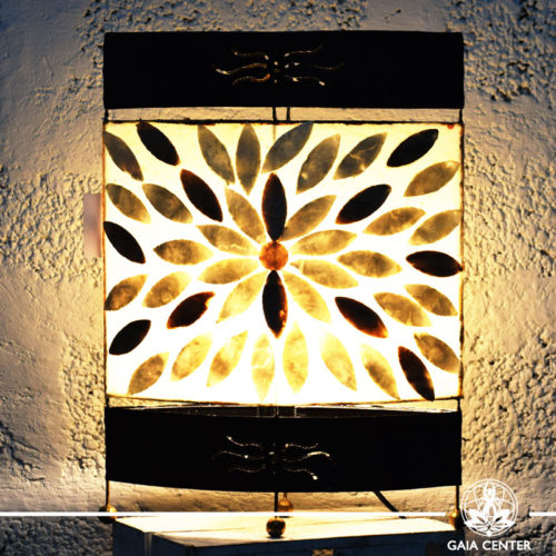 Lamp metal, coral and resin design from Bali large size at Gaia Center | Cyprus.