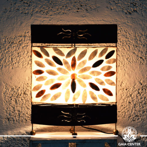 Lamp metal, coral and resin design from Bali medium size at Gaia Center | Cyprus.