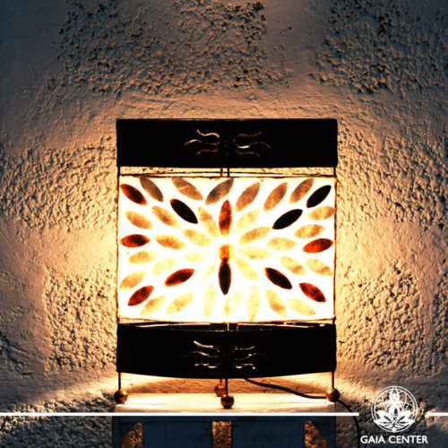 Lamp metal, coral and resin design from Bali small size at Gaia Center | Cyprus.