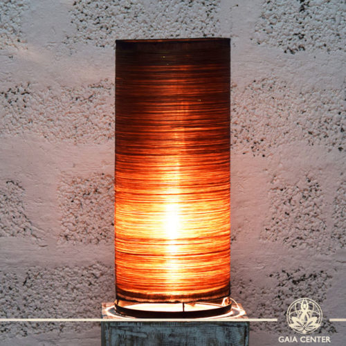 Lamps set textile brown color |large size| from Bali at Gaia Center | Cyprus.